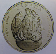 1998 14KT $100 GOLD COIN - 75TH ANNIVERSARY NOBEL PRIZE DISCOVERY OF INSULIN