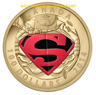2014 $100 14KT GOLD COIN ICONIC SUPERMAN COMIC BOOK COVERS: THE ADVENTURES OF SUPERMAN #596 (2001)