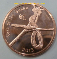 2013 YEAR OF THE SNAKE 1 OZ. COPPER ROUND