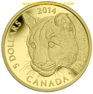2014 $5 PURE GOLD COIN - COUGAR