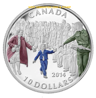 2014 $10 FINE SILVER COIN - WAIT FOR ME DADDY
