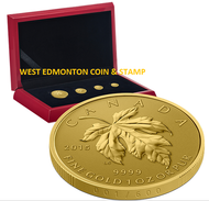 2015 PURE GOLD FRACTIONAL SET THE MAPLE LEAF