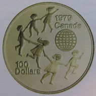 1979 22KT $100 GOLD COIN - INTERNATIONAL YEAR OF THE CHILD