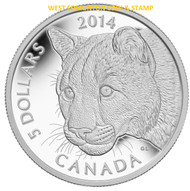 2014 $5 PURE PLATINUM COIN – COUGAR