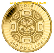 2014 $200 PURE GOLD COIN- INTERCONNECTION: SEA- THE ORCA