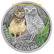 2015 $20 FINE SILVER COIN BABY ANIMALS: BURROWING OWL
