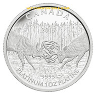 2015 $300 PLATINUM COIN THE WHITE-TAILED DEER - THE BATTLE