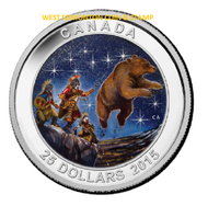 2015 $25 FINE SILVER COIN - STAR CHARTS - THE GREAT ASCENT