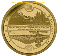 2015 $50 PURE GOLD COIN - UNESCO AT HOME & ABROAD - MOUNT FUJI & THE CANADIAN ROCKIES