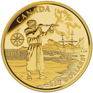 2015 $200 PURE GOLD COIN - GREAT CANADIAN EXPLORERS - HENRY HUDSON