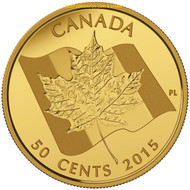 2015 50-CENT PURE GOLD COIN - MAPLE LEAF