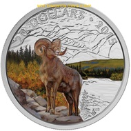 2015 $20 FINE SILVER COIN - MAJESTIC ANIMALS - BIGHORN SHEEP