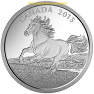 2015 $100 FINE SILVER COIN CANADIAN HORSE