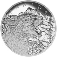2015 $125 FINE SILVER COIN GROWLING COUGAR