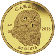 2015 50-CENT PURE GOLD COIN OWL