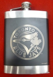 MLB LASER ENGRAVED STAINLESS STEEL FLASKS - TORONTO BLUE JAYS