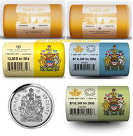 2011, 2012, 2013, 2014, 2015 CIRCULATION COIN ROLLS - 50 CENT