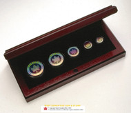 2003 HOLOGRAM FRACTIONAL SILVER MAPLE LEAF SET - QUANTITY SOLD: 28,947