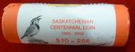 2005 SASKATCHEWAN CENTENNIAL QUARTER/ 25-CENT SPECIAL WRAP ROLL