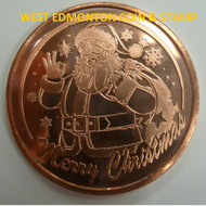 SANTA 1 OZ. COPPER ROUND