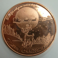 RUDOLPH & SLEIGH 1 OZ. COPPER ROUND