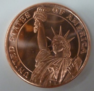 STATUE OF LIBERTY 1 OZ. COPPER ROUND