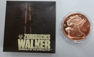 THE WALKER - PROOF ZOMBUCKS - 1 OZ. COPPER ROUND