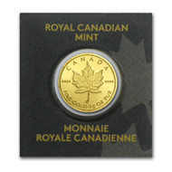2015 .9999 PURE GOLD COIN - 1 GRAM GOLD MAPLE LEAF