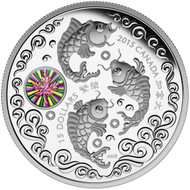 2015 $15 FINE SILVER COIN MAPLE OF PROSPERITY