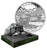 2015 $20 LIMITED EDITION FINE SILVER COIN  - 70TH ANNIVERSARY OF THE END OF THE ITALIAN CAMPAIGN