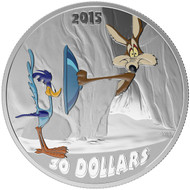 2015 $30 FINE SILVER COIN LOONEY TUNES™ CLASSIC SCENES - FAST AND FURRY-OUS