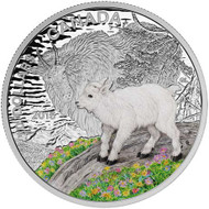 2015 $20 FINE SILVER COIN BABY ANIMALS - MOUNTAIN GOAT