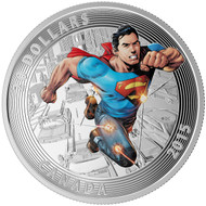 2015 $20 FINE SILVER COIN - ICONIC SUPERMAN™ COMIC BOOK COVERS - ACTION COMICS #1 (2011)