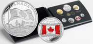 2015 SPECIAL EDITION SILVER DOLLAR PROOF SET 50TH ANNIVERSARY OF THE CANADIAN FLAG