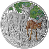 2015 $20 FINE SILVER COIN BABY ANIMALS: WHITE-TAILED DEER