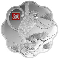 2016 $250 FINE SILVER COIN YEAR OF THE MONKEY