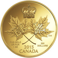 2015 $200 PURE GOLD COIN - A HISTORIC REIGN