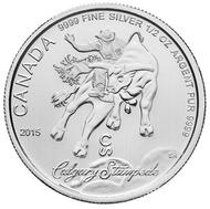 2015 1/2oz.  FINE SILVER COIN - CALGARY STAMPEDE