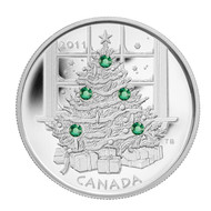 2011 $20 FINE SILVER COIN - CHRISTMAS TREE