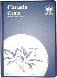 CANADA 1 CENTS - SMALL PENNIES - BLANK - BLUE COIN FOLDERS - UNI-SAFE