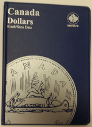 CANADA 1 DOLLARS - LOONIES & SILVER DOLLARS - BLANK - BLUE COIN FOLDERS - UNI-SAFE