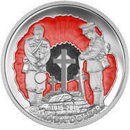 2015 LIMITED EDITION PROOF SILVER DOLLAR 100TH ANNIVERSARY OF IN FLANDERS FIELDS