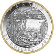 2015 $20 FINE SILVER COIN - TOM THOMSON: SPRING ICE (1916)