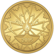 2015 25-CENT PURE GOLD COIN DIWALI : FESTIVAL OF LIGHTS