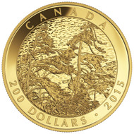 2015 $200 PURE GOLD COIN - TOM THOMSON: PINE ISLAND, GEORGIAN BAY (1914-1916)