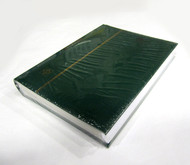 STAMP STOCKBOOK ALBUM - 32 WHITE PAGES (64 SIDES) - SINGLE GLASSINE INTERLEAF - GREEN