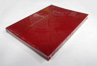 STAMP STOCKBOOK ALBUM - 16 BLACK PAGES (32 SIDES) - DOUBLE GLASSINE INTERLEAF - RED