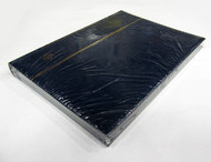 STAMP STOCKBOOK ALBUM - 16 BLACK PAGES (32 SIDES) - DOUBLE GLASSINE INTERLEAF - BLUE