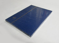 STAMP STOCKBOOK ALBUM - 8 BLACK PAGES (16 SIDES) - DOUBLE GLASSINE INTERLEAF - BLUE