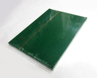 STAMP STOCKBOOK ALBUM - 8 BLACK PAGES (16 SIDES) - DOUBLE GLASSINE INTERLEAF - GREEN
